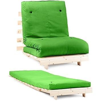 Changing Sofas Verde Premier algodón de Sarga Individual para futón 1 plazas armazón de Base de Madera con colchón Juego de sofá Cama: Amazon.es: Hogar