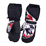 Azarxis Children's Winter Waterproof Ski Mittens Kids Warm Snow Gloves for 3-12 Years Old Boys & Girls