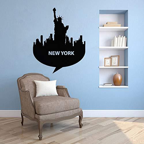 YuanMinglu Nueva York Skyline Vinilo Tatuajes de Pared Dormitorio ...