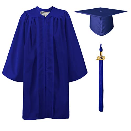 Kindergarten Cap And Gown (GraduationMall Matte Kindergarten Graduation Gown Cap Set with 2019 Tassel Royal Blue)
