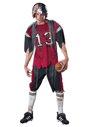 Soccer Player Costume Halloween (InCharacter Costumes Men's Dead Zone Zombie Costume, Red/Grey,)
