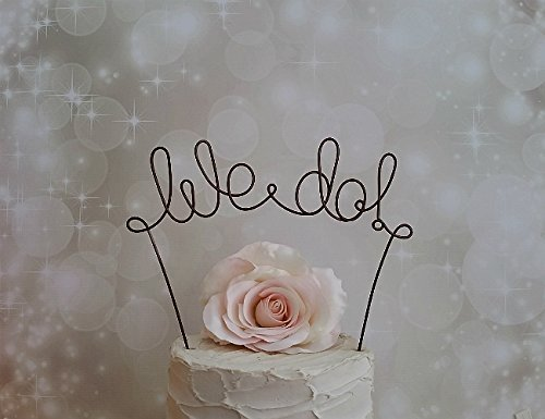 WE DO! Wedding Cake Topper in OXIDIZED COPPER Finish, Wedding Decoration, Rustic Decoration, Bridal Shower Decoration, Engagement Party Decoration, by AntoArts