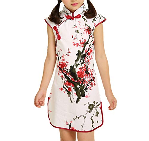 Baby Girls Dresses Chinese Traditional Style Cheongsam Costume Children Clothing,Style -