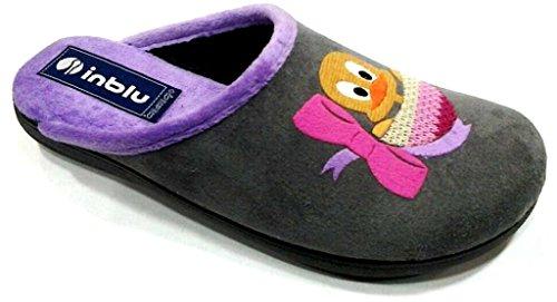 Inblu pantofole ciabatte invernali da donna art. Bq-121 GRIGIO