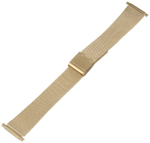Hadley Roma MB3805Y 18-22mm Squeeze End Gold Tone Mens Watch Band Thin Mesh - Gold Watch Mesh Band Mens