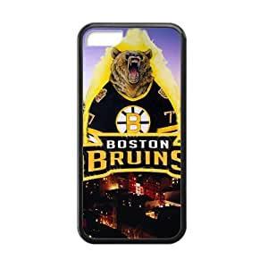 Roaring Bear Not Lose Boston Bruins Iphone 5c Case Shell Cover (Laser Technology) by supermalls