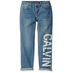 Calvin Klein Girls' Splatter Boyfriend Jean