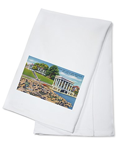 (Plymouth, Massachusetts - Plymouth Rock Portico, Hotel (100% Cotton Kitchen Towel))