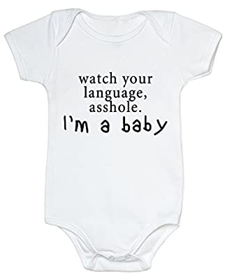 HAPPYBERRY Baby Funny Bodysuits Infant Rompers Outfits