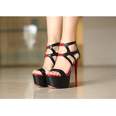 pwne La mujer Primavera Club PU Zapatos de Tacón Stiletto talón Casual Negro negro US8 / UE39 / UK6 / CN39 US5.5 / EU36 / UK3.5 / CN35