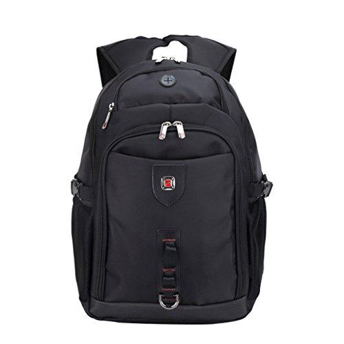 TSRHFGT Backpack Laptop Bag Travel Rucksack Spacious Hiking Knapsack Protective Daypack For Men &Women Black