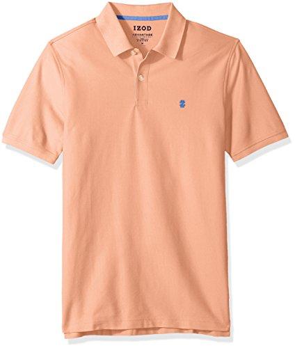 Izod Cotton Shirt - IZOD Men's Advantage Performance Solid Polo, Deep Papaya Punch, X-Large