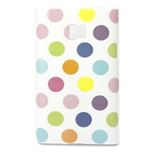 Wall-Colorful Cute Point TPU GEL Soft Skin Case Cover for LG Optimus L3 E400 White