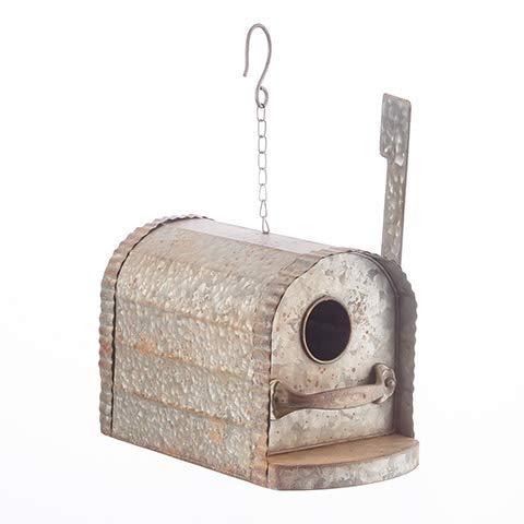 Darice Decorative Metal Birdhouse Mailbox: 7.5 x 9 inches