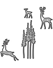 BESPORTBLE 2Pcs Christmas Cutting Dies Christmas Tree Reindeer Metal Cutting Stencils Holiday Embossing Folders for Xmas DIY Card Making Scrapbooking Decoration