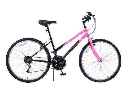 Titan Wildcat Women's 12-Speed Hard Tail Mountain Bike, Bubble Gum Pink, 15 inch frame height