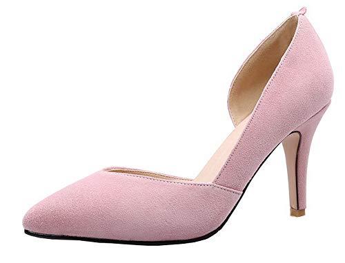 Scarpe Ballet Donna Luccichio Rosa AllhqFashion Tacco Alto Flats Tirare FBUIDD007135 A Punta IBxwq