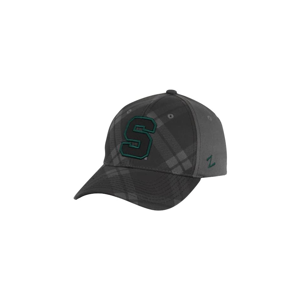 NCAA Zephyr Michigan State Spartans Tartan Plaid Z Fit Hat   Charcoal (Medium/Large)