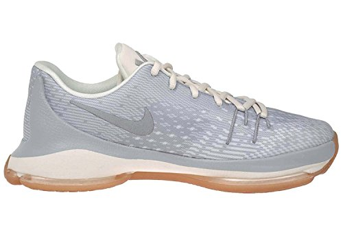 Grey NIKE GS 8 Silver Metallic Basketball KD white Wolf Shoes Boys' WaaP0