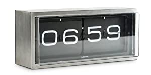 walldesk clock brick stainless steel 24h black brick desk wall clock