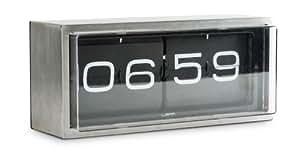 Leff Amsterdam LT15101 - Reloj digital de mesa o pared de acero inoxidable, color negro