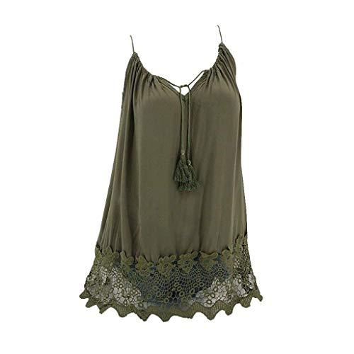 liberalism Vest Summer Lace Sleeveless Loose Crop Tank Swing T-Shirt Women's XXX-Large by liberalism (Image #4)