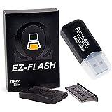 EZ Flash Omega Black Transparent Edition GBA NDS NDSL (Black Transparent) - USB MicroSD Card Reader/Writer Included!