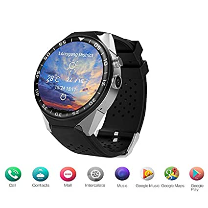 Amazon.com: ZM&M Smart Watch 1GB + 16GB ROM Bluetooth Smart ...