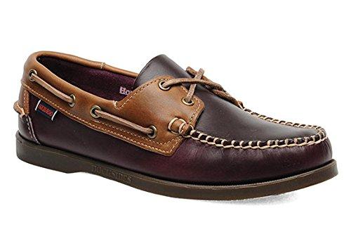 Men's Sebago Horween Spinnaker Plum/Mid Brown Boat Shoes US 9