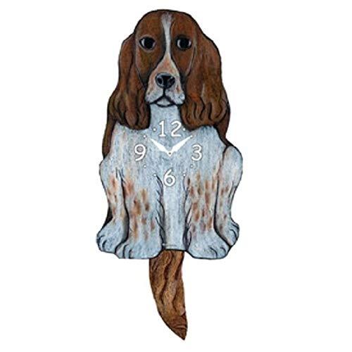 Springer Spaniel Dog Wagging Tail Pendulum Clock