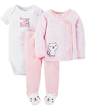 Just One You Baby Girls' 3-Piece Set