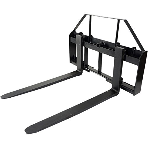Pallet Forks Attachment for Tractors and Loaders, Skid Steer, Quick Tach, 42