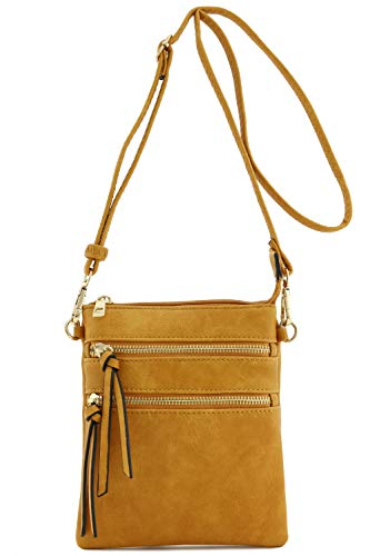 Functional Multi Pocket Crossbody Bag (Mustard) (Big Bag Crossbody)