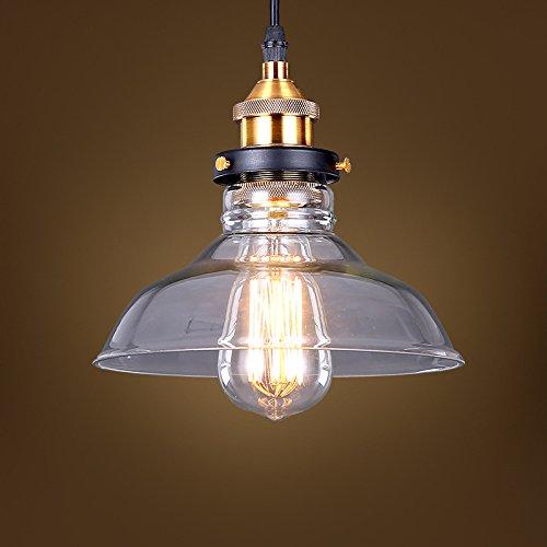 Estilo Vintage Country cuenco 1 luz lámpara de techo tulipa ...
