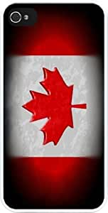 Rikki KnightTM Canadian Flag Design Design iPhone 4 & 4s Case Cover (White Rubber with bumper protection) for Apple iPhone 4 & 4s by icecream design