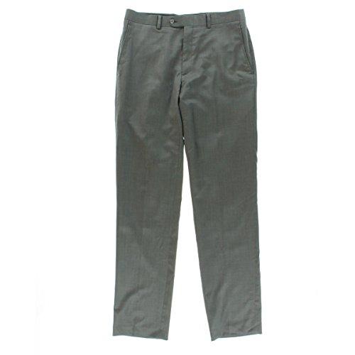 UPC 772084153094, Bar III Slim Fit Flat Front Grey Pindot Wool New Men's S (30W x 30L)