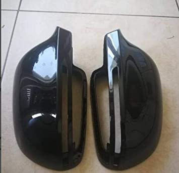 Replacement Covers Mirror Cover Left Right Gloss Bright Black Rearview Wing Mirror Cover Cap Fit for Audi A4 B8.5 S4 2010-2015 A3 S3 2011-2013 A5 S5 2010-2016 8T085 Rearview Mirror Cap
