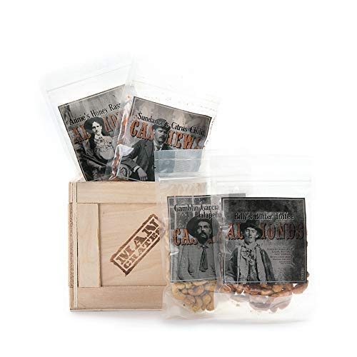 Man Crates Saloon Nuts Mini Crate - Flavorful Food Gift For Men - Includes Butter Toffee Almonds, Jalapeño Garlic Cashews and More - Ships In A Sealed Wooden Crate With A Laser-Etched Crowbar by Man Crates (Image #6)