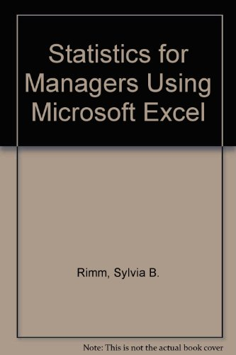 Rimm Computer (Statistics for Managers Using Microsoft Excel)