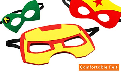 12 Pcs Cartoon Felt Masks Party Supplies Party Character Cosplay Mask for Kids
