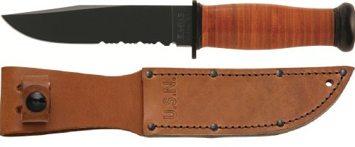 Ka-Bar-Serrated-Leather-Handled-Mark-1-Knife