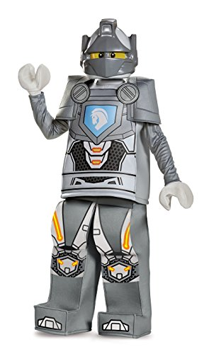 Disguise Lance Prestige Lego Nexo Knights Costume, Gray, Medium (7-8)
