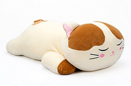Lazada Plush Cat Dolls Stuffed Kitty Super Soft Animal Pillows for Kids Toys 46cm (Brown) ()