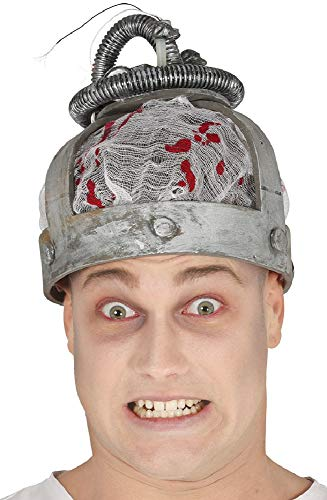 Mens Ladies Electric Chair Light Sounds Hat Halloween Fancy Dress Costume Outfit -
