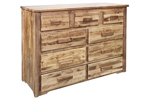 - Montana Woodworks MWHC9DSL Homestead Collection 9-Drawer Dresser, Stain & Lacquer Finish