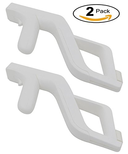 Aiposen Zapper Light Gun for Nintendo Wii - Links Remote / Nunchuk for Shooting Games(White) (2 Pack)
