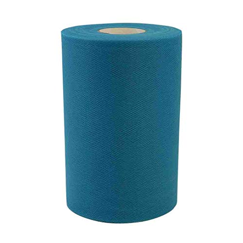 Turquoise Tulle for Weddings, Decoration - 100 Yard Roll, 6