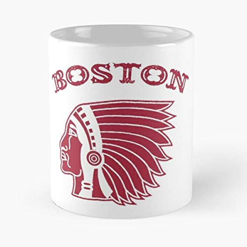 Boston Red Sox Stockings Logo - Coffee Mugs Unique Ceramic Novelty Cup For Holiday Days 11 Oz. ()