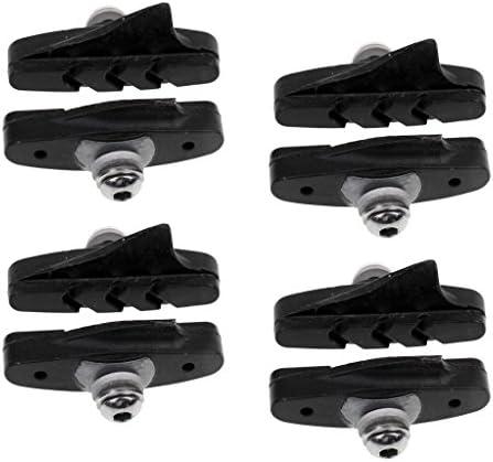 8個 自転車 ロードバイク レーサーバイク ブレーキ ゴム ブラックパッド/ブロック/靴 実用的