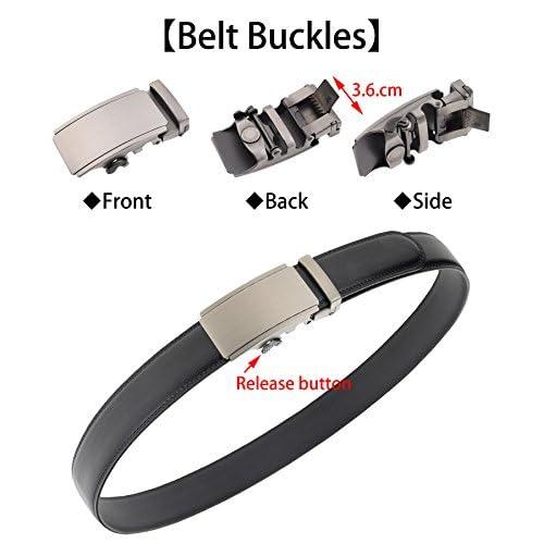 QISHIYUHUA Hombres Cinturón de Cuero Correa Cinturones de Piel Diseñado  para caballero Chic 8e2b9becc396